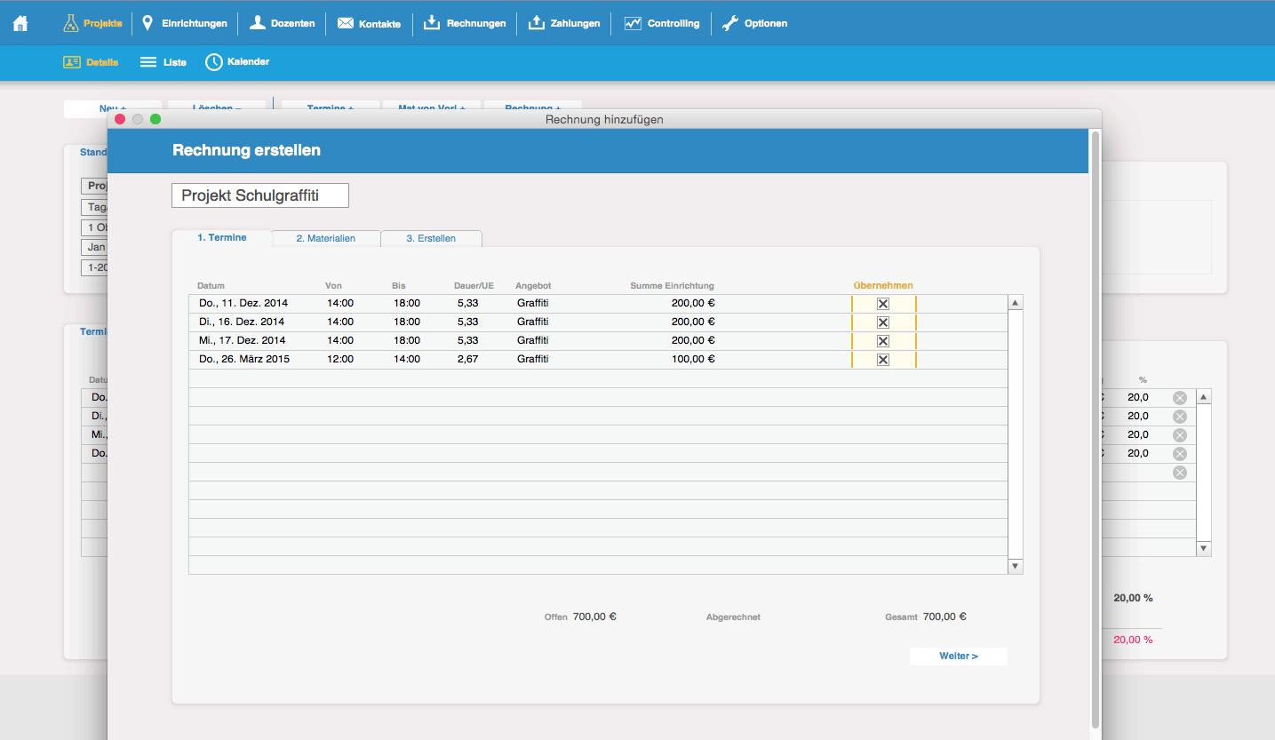 CRM System – Rechnung erstellen