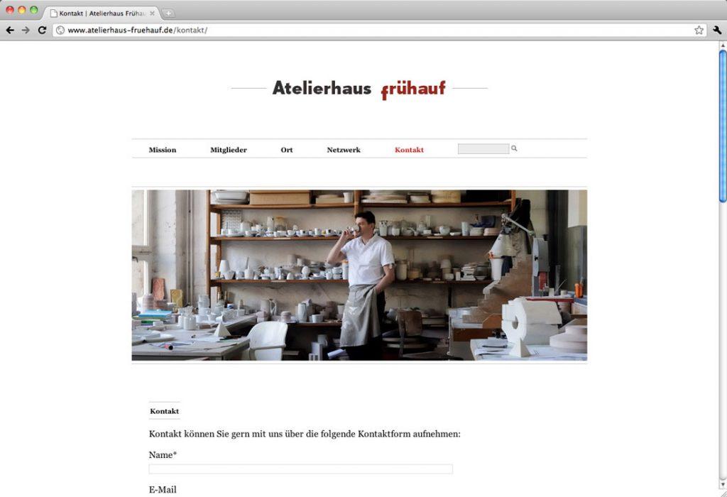 Atelierhaus Frühauf, Leipzig | Gestaltung, Programmierung