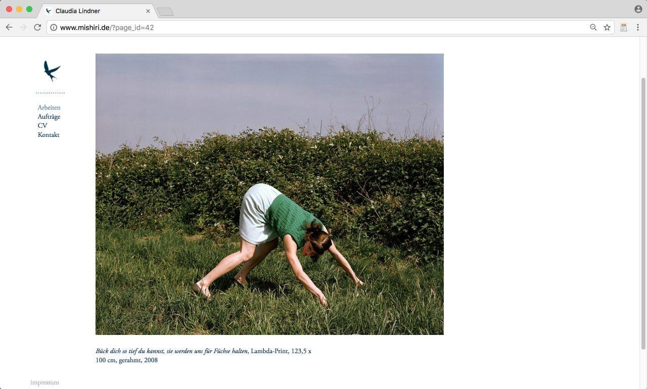 Website Claudia Lindern Fotografie