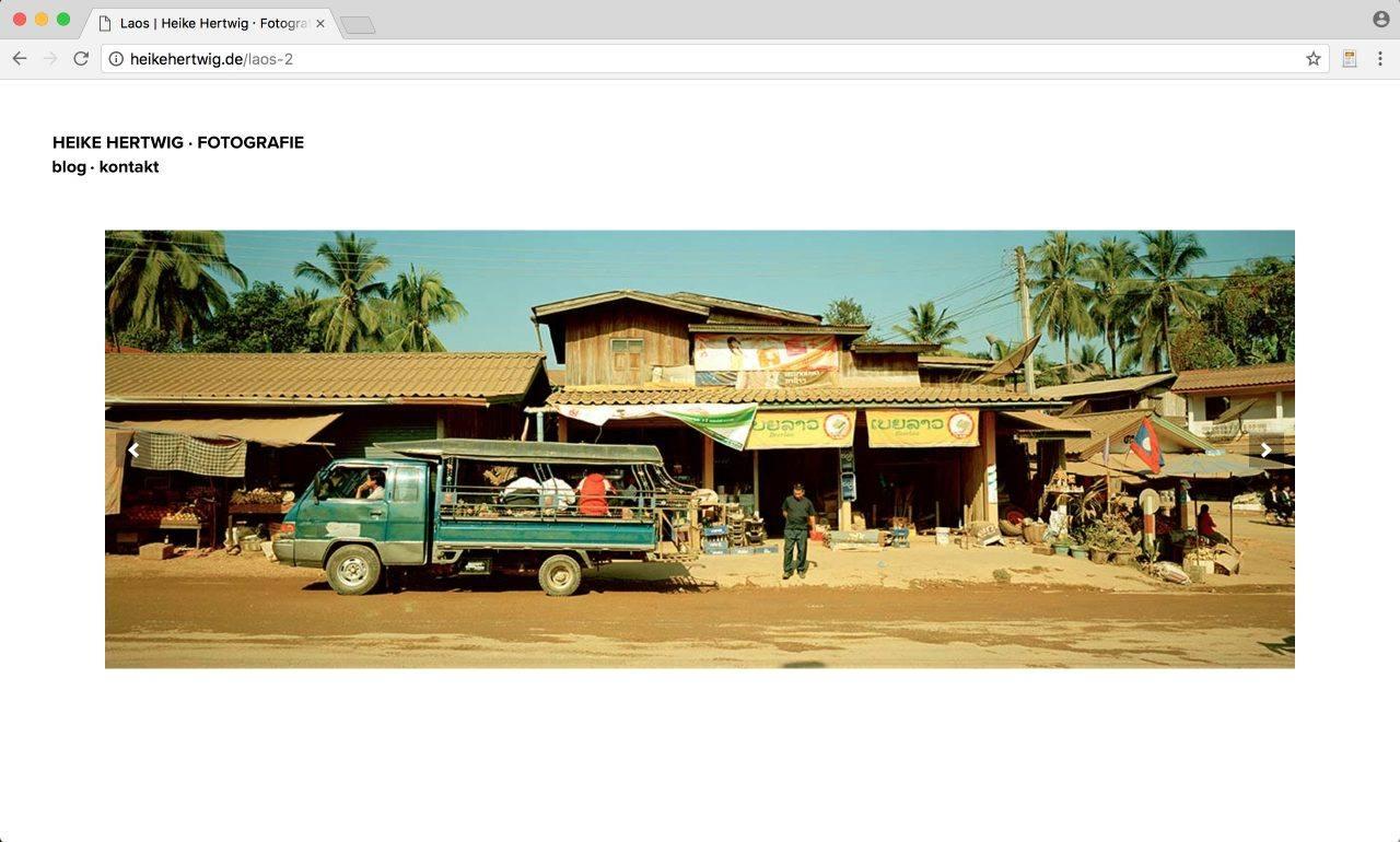 Website Heike Hertwig Fotografie