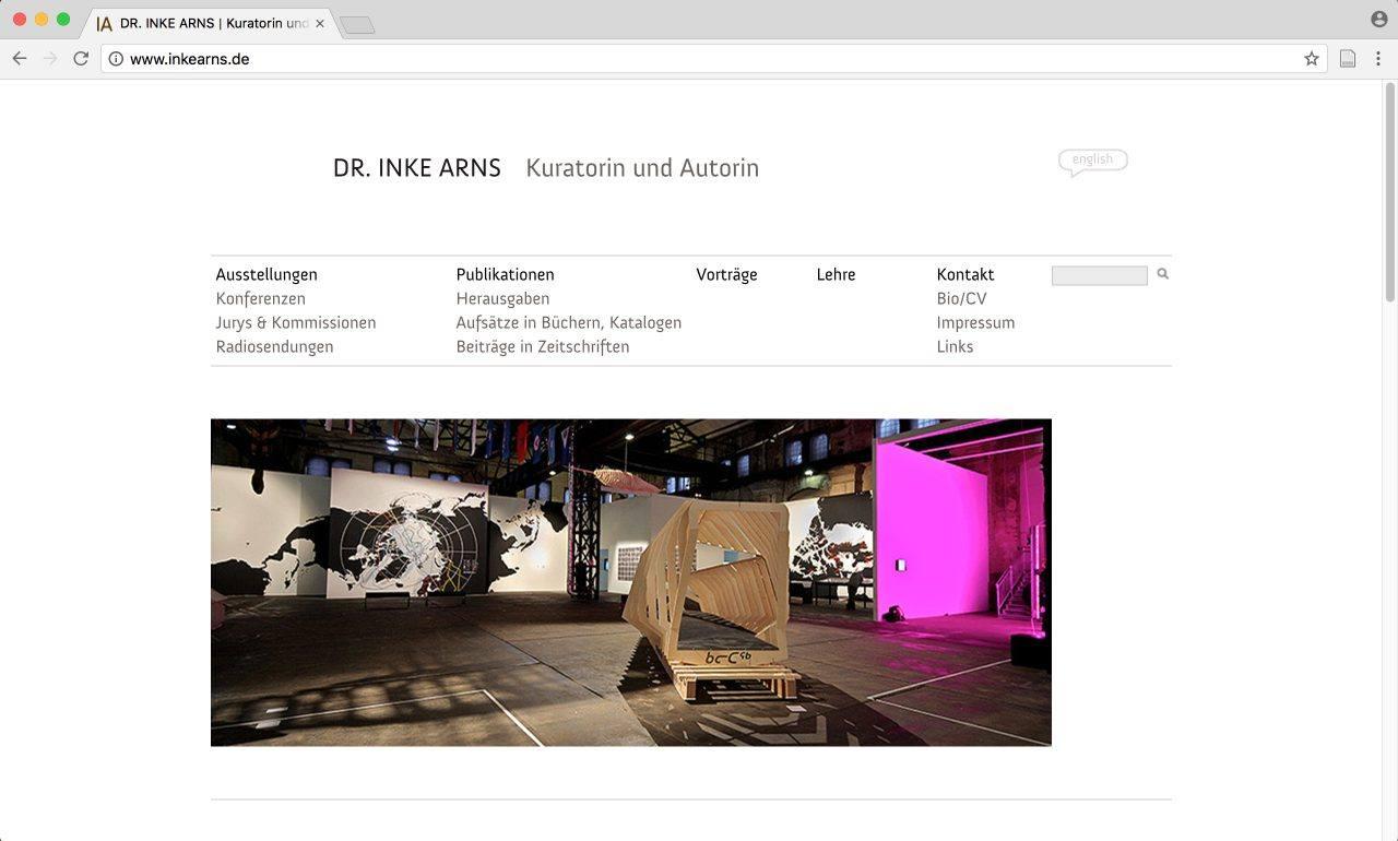 Website Inke Arns Kuratorin