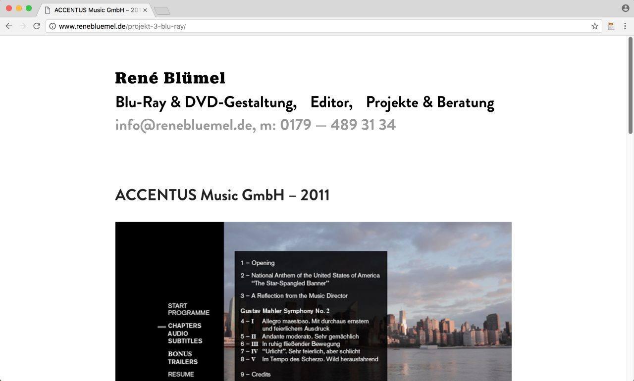 Website Rene Blümel DVD & Cutter