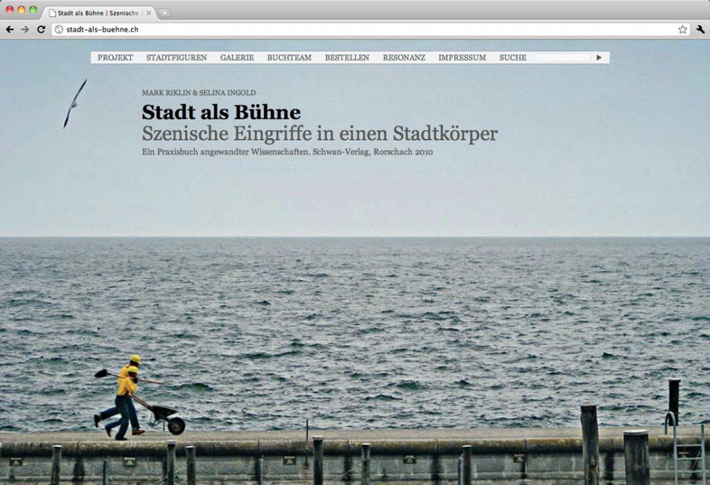Stadt als Bühne, Projektdokumentation einer Fachhochschule, Rorschach (CH) | Gestaltung, Programmierung – Startseite