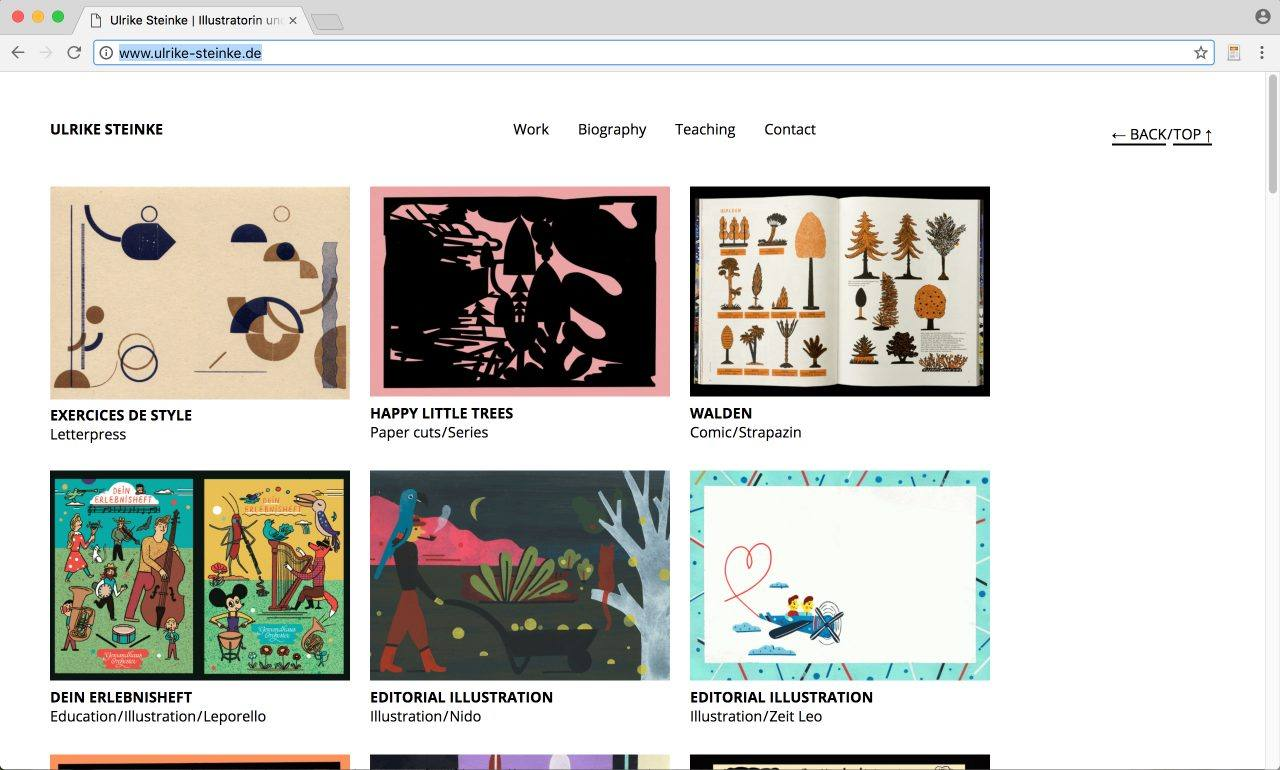 Website Ulrike Steinke Illustration